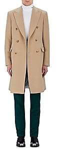 Calvin Klein Men's Cotton Moleskin Double-Breasted Coat-Beige, Tan Size 52 Eu