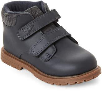 Osh Kosh B'gosh (Toddler Boys) Navy Axyl Double Velcro Boots