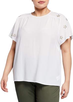 MICHAEL Michael Kors Size Embellished-Sleeve Top