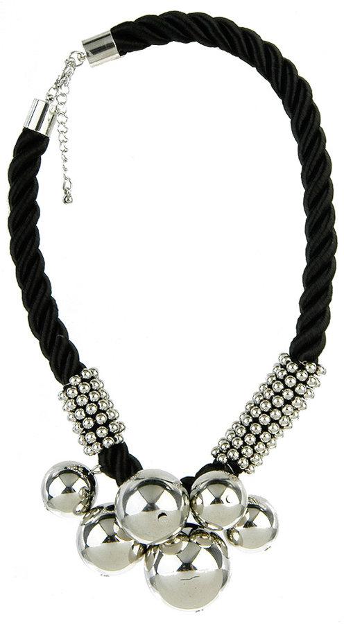 Polished Globes Rope Necklace
