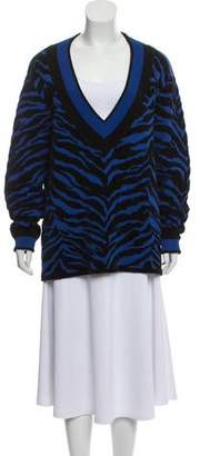 Adam Selman Abstract Knit Sweater