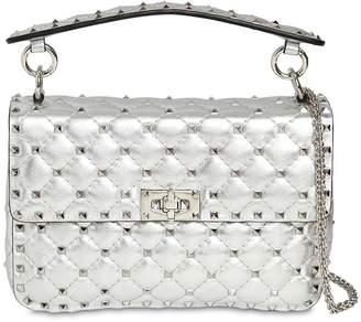 Valentino Medium Studded Laminated Leather Bag
