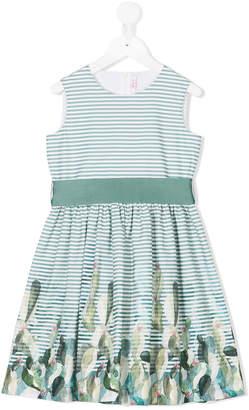 Il Gufo striped cactus print dress