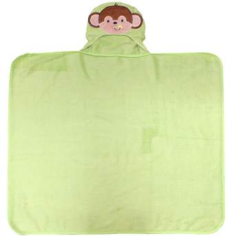 Neat Solutions 100% Cotton Woven Terry Hooded Bath Towel for Kids, Happy