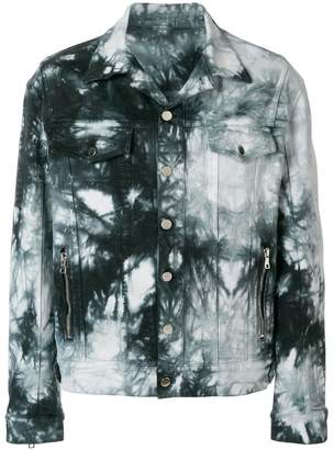 Balmain tie dye denim jacket