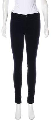 J Brand Skinny Velour Pants