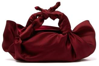 The Row The Ascot Satin Clutch - Womens - Burgundy a84ace179257e