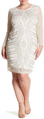 Marina Beaded Glitter Sheath Dress (Plus Size) $189 thestylecure.com