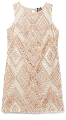 Vince Camuto Embroidered Sequin Dress