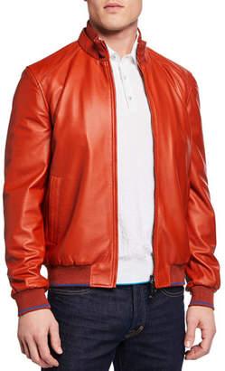 Stefano Ricci Men's Leather Blouson Jacket