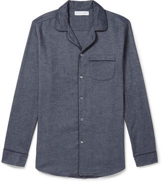 Desmond & Dempsey - Brushed Cotton-Twill Pyjama Shirt - Men - Blue