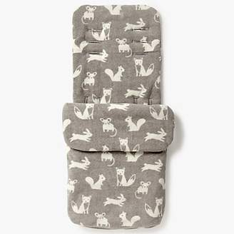 John Lewis & Partners Baby Forest Friends Pushchair Footmuff, Grey