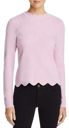 Aqua Scallop-Trim Sweater - 100% Exclusive