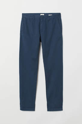 H&M Cotton chinos Slim Fit - Blue