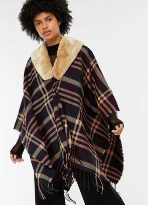 Accessorize Fur Trim Poncho