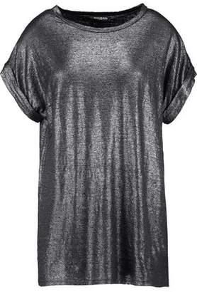 Balmain Metallic Linen-Blend T-Shirt