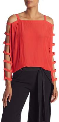 Ramy Brook Colby Strappy Sleeve Blouse