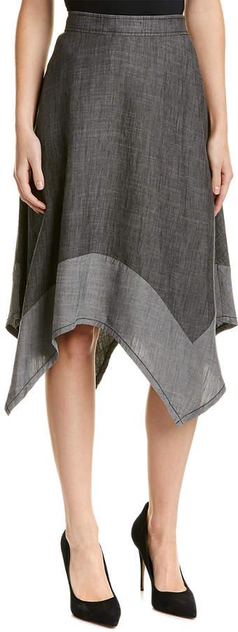 Trina Turk Camillo Linen-Blend A-Line Skirt