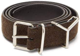 Y/Project Y-loop wool and leather belt