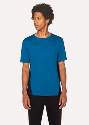 Paul Smith Men's Blue T-Shirt With Black Panels