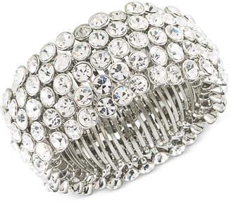 Carolee Silver-Tone Crystal Stretch Bracelet
