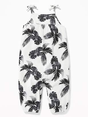 Old Navy Palm-Print Tie-Strap Romper for Baby