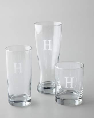Horchow Monogrammed Pilsner Glasses, Set of 4