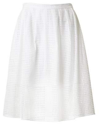 Michael Kors Eyelet Pleated Skirt