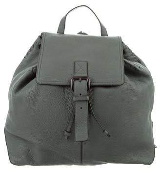 1b3479f266 Bottega Veneta Intrecciato-Trimmed Leather Backpack