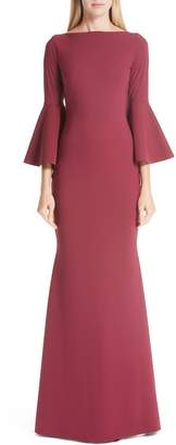 Chiara Boni Iva Bell Sleeve Evening Dress