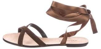 Dolce & Gabbana Suede Crossover Sandals