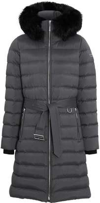 Burberry Detachable Shearling Trim Down-filled Puffer Coat