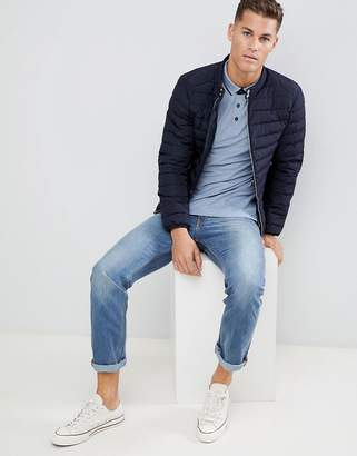 Celio quilted jacket in navy