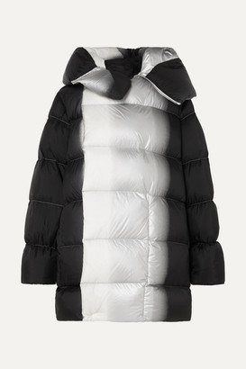 Rick Owens Sisy Oversized Degrade Quilted Shell Down Coat - Black