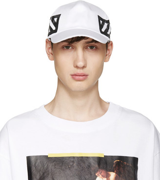 Off-White White Brushed Diagonals Cap $95 thestylecure.com