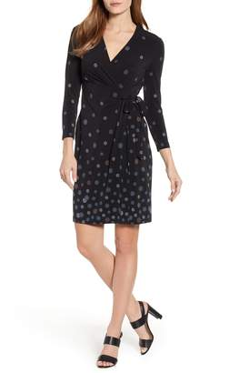 Anne Klein Nathalie Faux Wrap Stretch Jersey Dress