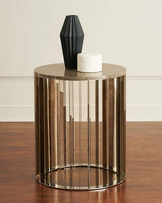 Interlude Home Roxette Marble-Top Side Table