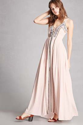 FOREVER 21+ Soieblu Embroidered Maxi Dress $65 thestylecure.com