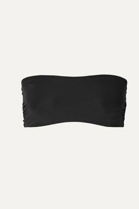 Commando Chic Mesh Stretch Soft-cup Bandeau Bra - Black