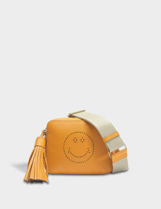 Anya Hindmarch Smiley Crossbody Bag in Manuka Sugar Leather
