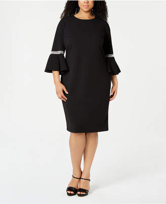 c53f4cc20 Calvin Klein Plus Size Bell-Sleeve Dress
