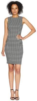 Calvin Klein Check Print Compressions Sheath Dress CD8E5923 Women's Dress