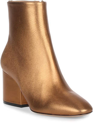 Salvatore Ferragamo Pisa 70 leather bronze bootie