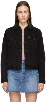 Levi's Levis Black Denim Original Sherpa Trucker Jacket