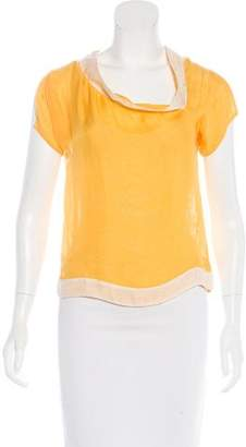 Bottega Veneta Silk Short Sleeve Top