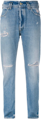 Cycle distressed slim-fit jeans $188 thestylecure.com