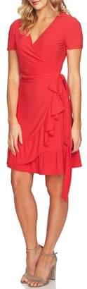 CeCe Belted Ruffle Wrap Dress