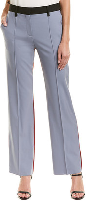 Valentino Colorblocked Wool-Blend Pant