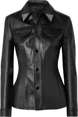 Alexander Wang Studded Leather Shirt - Black