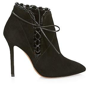 Gucci Alaà ̄a Women's Side-Lace Suede Booties